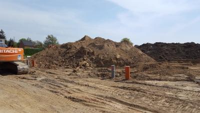 eerste foto van onze grond