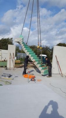 plaatsen van de trap