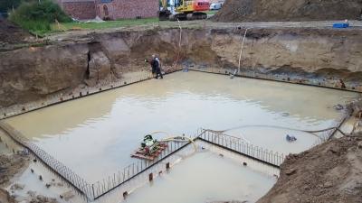 grondplaat onder water